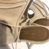 Aquazzura Beige Suede Shoes 37.5 (Also In Navy On Seperate Listing!)#10262/22MCB